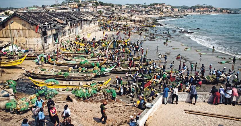 Cape Coast beach, Ghana
