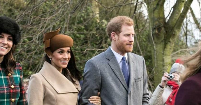 Prince Harry and Meghan Markle, Christmas Day 2017 | © Mark Jones / WikiCommons