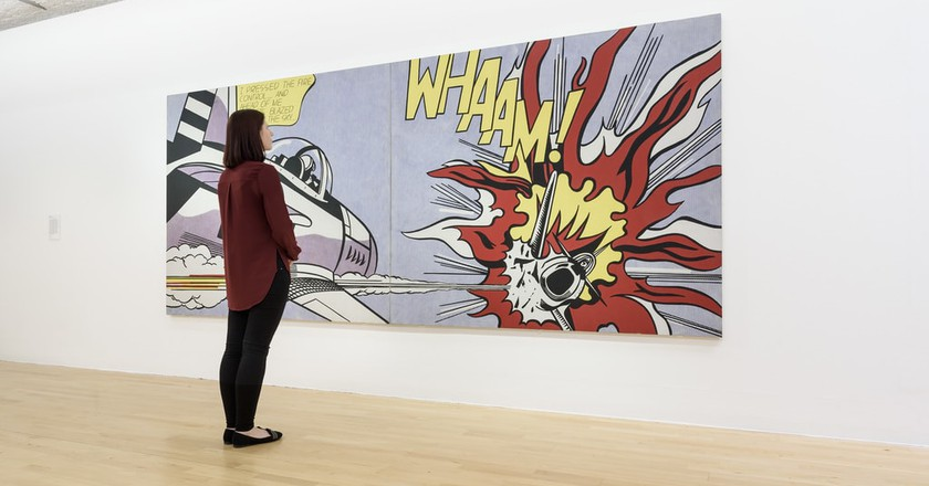 Roy Lichtenstein's Whaam! (1963) on display at Tate Liverpool | © Tate Liverpool, Roger Sinek