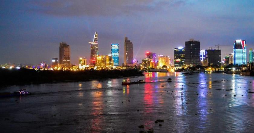 Saigon at night from the river   © John Gremory/ WikiCommons