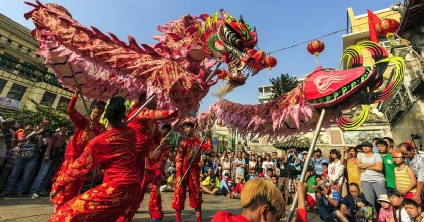 Lion dancers for Tết  holiday   © Saigoneer/Shutterstock