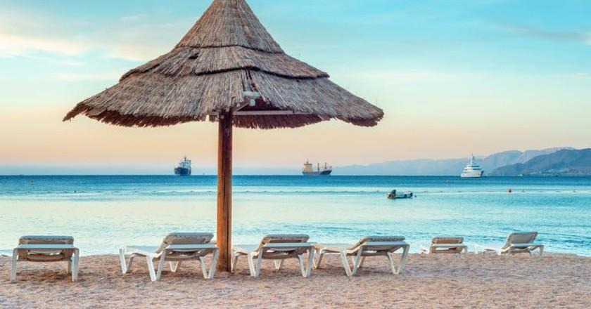 A beach in Eilat, Israel