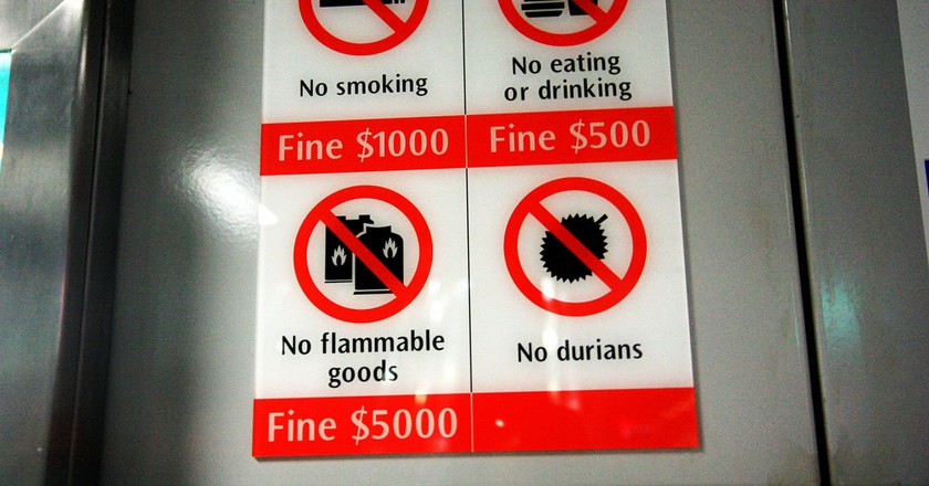 Fine signs in Singapore
