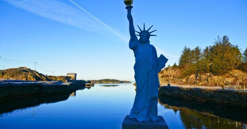 The Statue of Liberty in Visnes