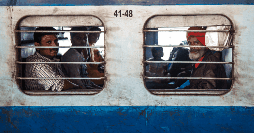 The trains regularly take five times the amount of people they have capacity for   © Souleyman Messalti
