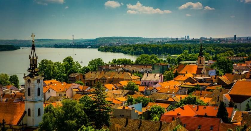 The view from Gardoš in Zemun