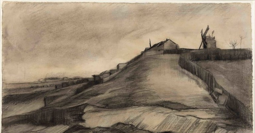 Vincent van Gogh, The hill of Montmartre with stone quarry, March 1886   Courtesy Singer Laren Museum