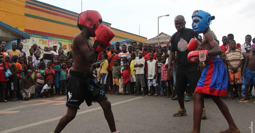 Street boxing at Chale Wote Street Arts Festival 2013   © Kwabena Akuamoah-Boateng / Flickr