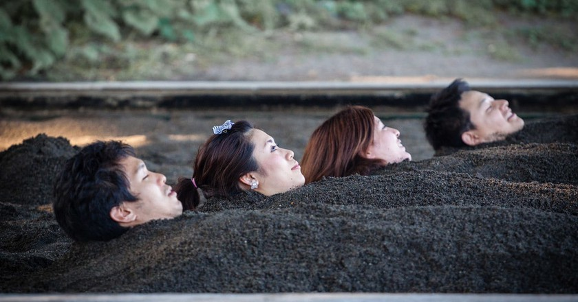 Beppu open-air sand bath | © Thilo Hilberer / Flickr
