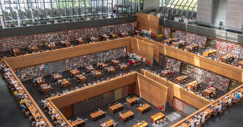 Inside the National Library of China | © IQRemix / Flickr