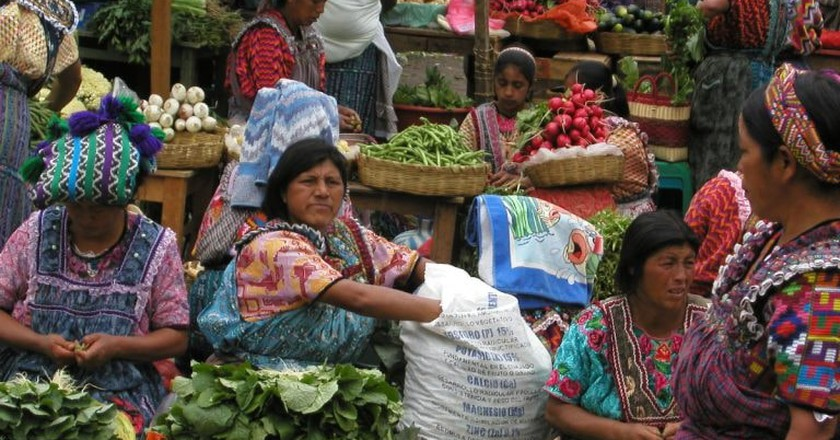The market at Almolonga, Guatemala