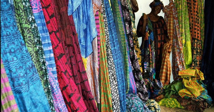 Ghanaian fabrics at Merci Asi Okanse's shop, Osu | © Doug Wilkowske / Flickr