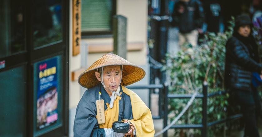 A Bhikkhu (Buddhist priest) in Kyoto   © hans-johnson/ Flickr