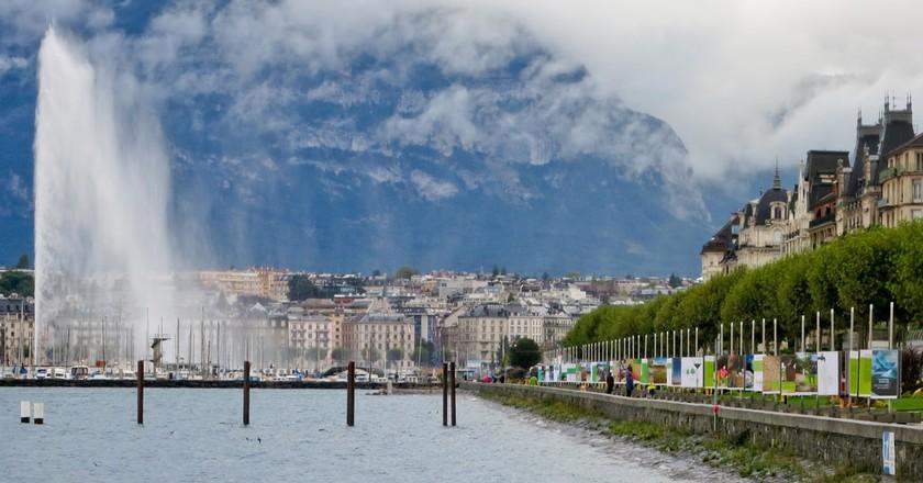 Geneva's Quai Wilson   © Alisa Alspach, Images of our world/ Flickr