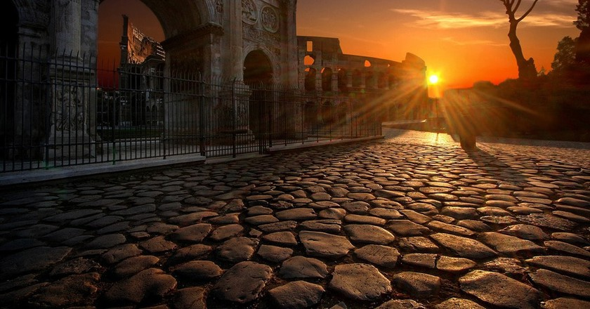 The sun sets on ancient Rome | © Julius_Silver/Pixabay
