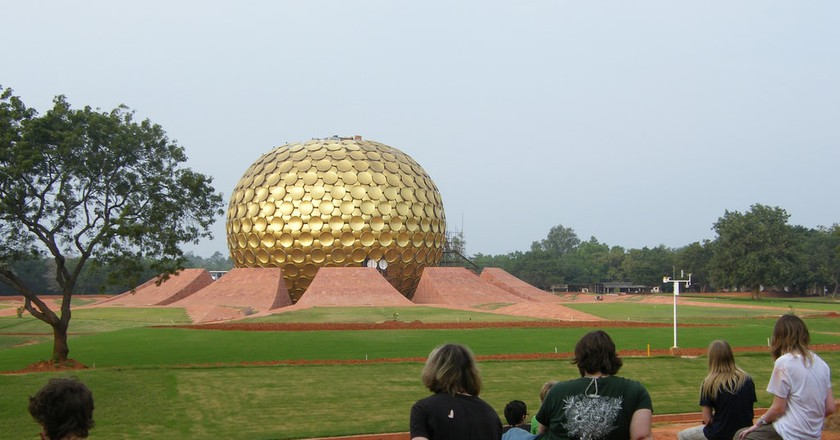 The Matrimandir is strategically located to act as the centre of the Auroville township   © sillybugger/WikiCommons