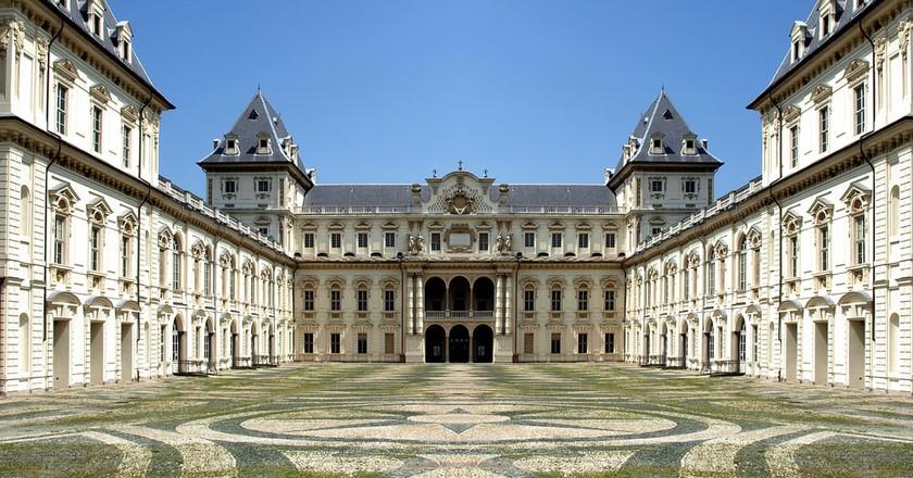 The interior courtyard of Castello del Valentino, Parco del Valentino, Turin | Shutterstock/Claudio Divizia