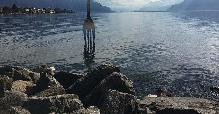 Switzerland's giant, lake-dwelling fork | © strecosa/ Pixabay