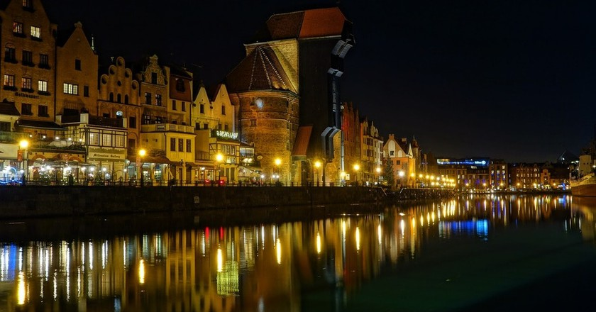 Gdańsk by night | © clariston / Pixabay