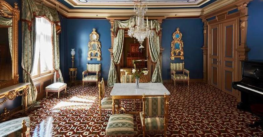 The blue parlour in Henrik Ibsen's home | © Haakon Harriss, Courtesy of Ibsenmuseet