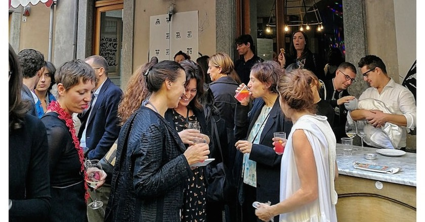 Guests at Tre Galli enjoying aperitivo hour | Courtesy Tre Galli