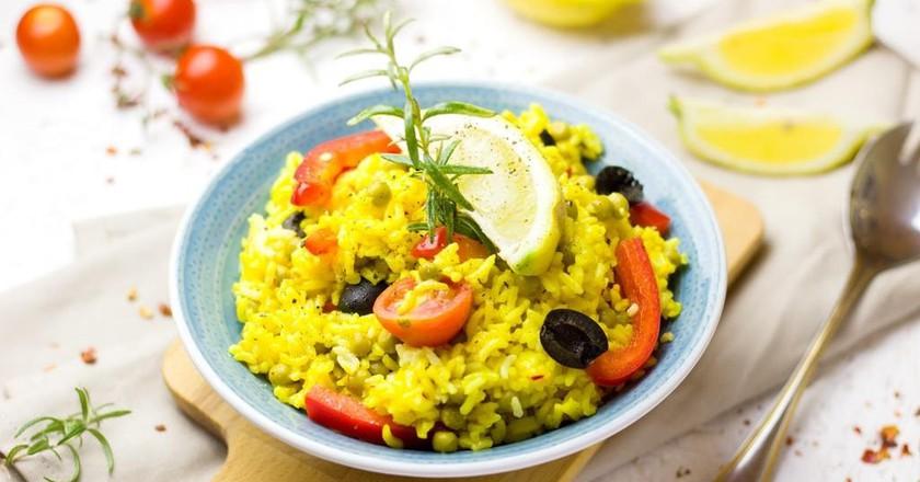 Rice bowl with veggies