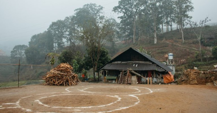 Traditional H'Mong Community Home