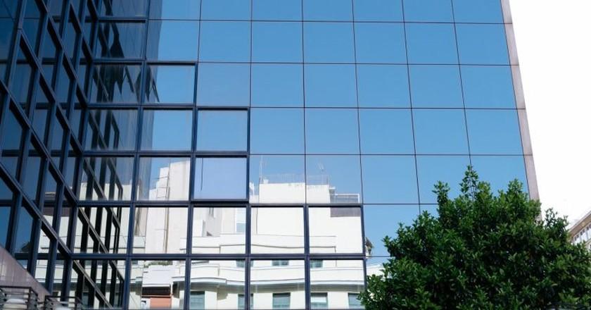 Building façade in Exarchia, Athens
