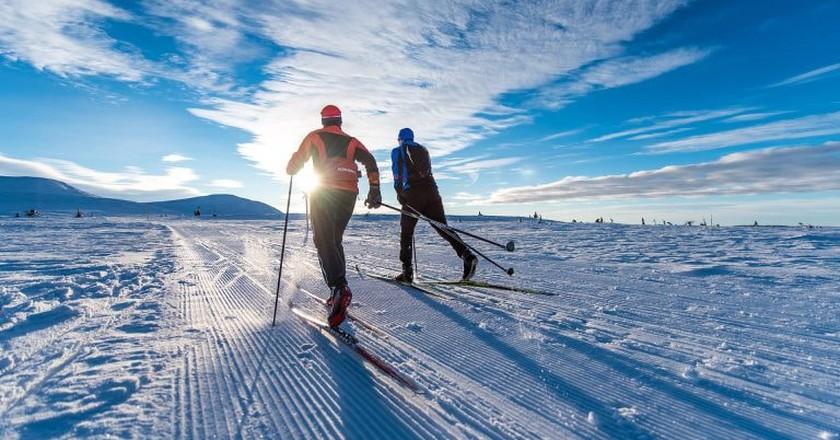 Skiing at Trysil