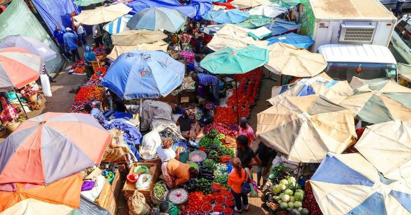 A farmers' market in Nakawa, Kampala | Courtesy of William Kane