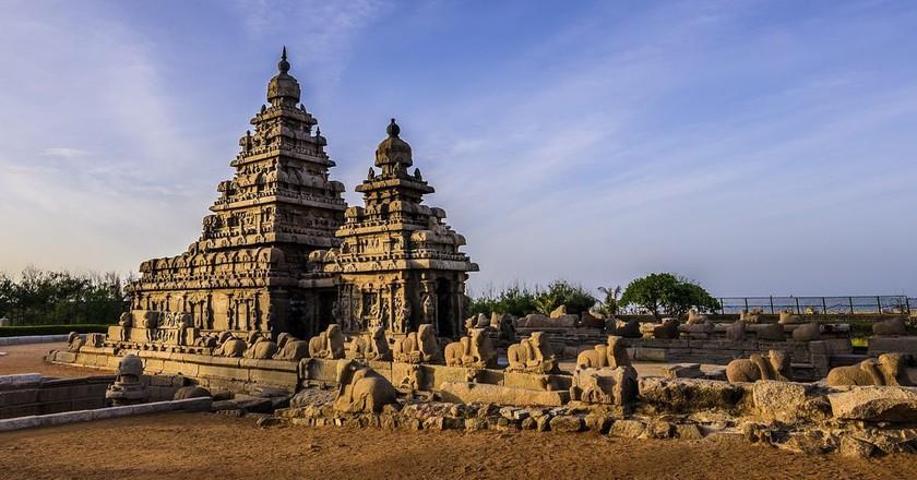 The Shore Temple at Mamallapuram