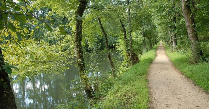 The lovely path along the D&R Canal