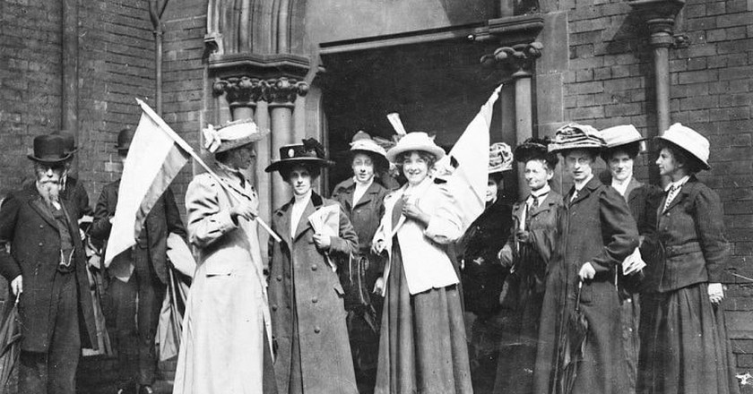 British suffragettes demonstrating for the right to vote in 1911 | © WikiCommons