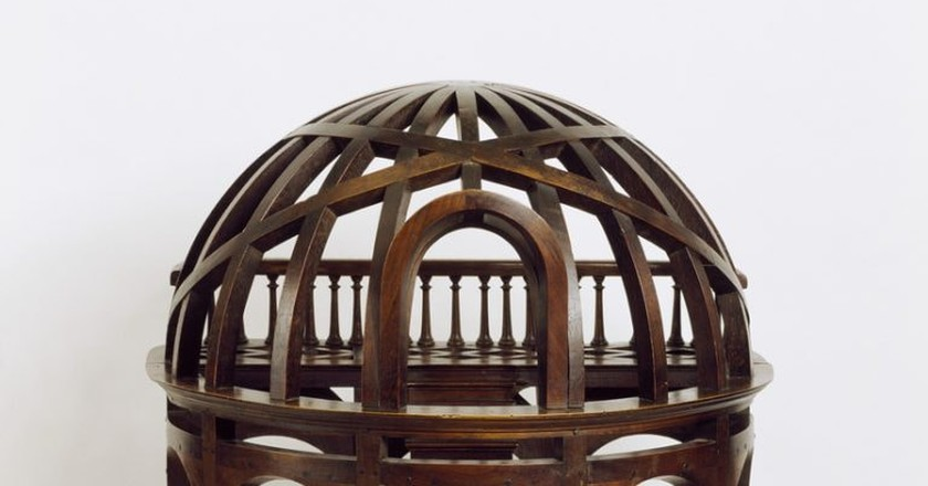 A dome-shaped mid 19th-century wooden staircase from France | © Courtesy of Smithsonian Institution