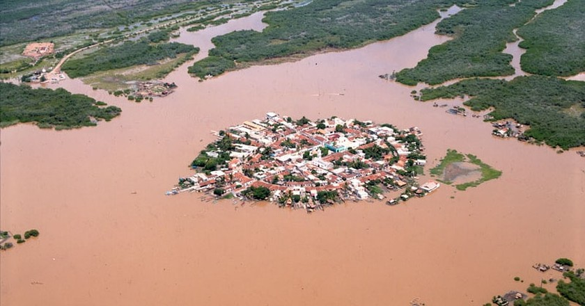 Aerial view of Mexcaltitán