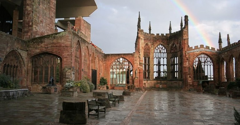 The old section of Coventry Cathedral