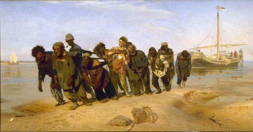 'Barge Haulers on the Volga' by Ilya Repin (1872-1873)