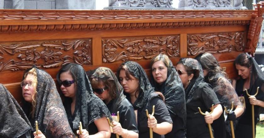 Cucuruchos in Guatemala City, Guatemala
