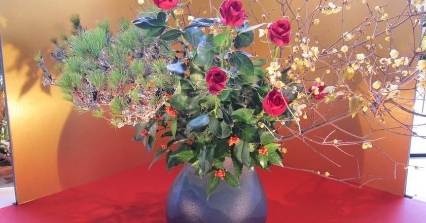 Ikebana floral arrangements