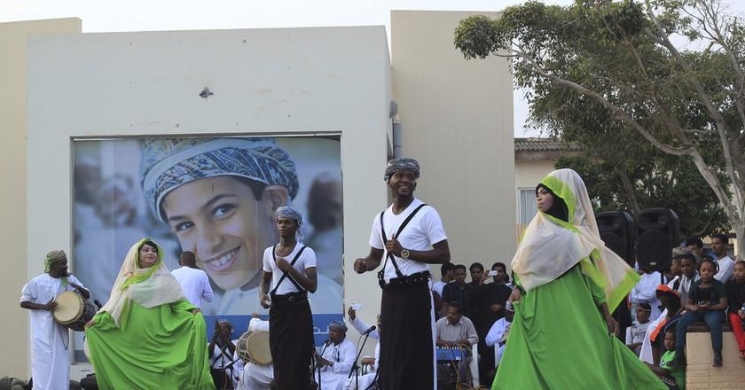 Dhofari dance at Souq Al Half