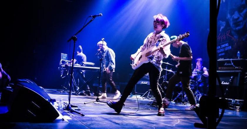 Seoul-based disco punk band GOGOSTAR perform at OzAsia, 2015