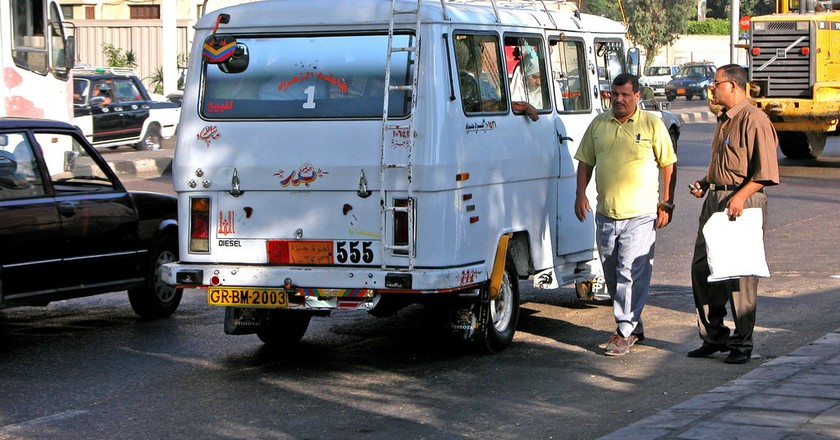Microbus in the streets of Cairo