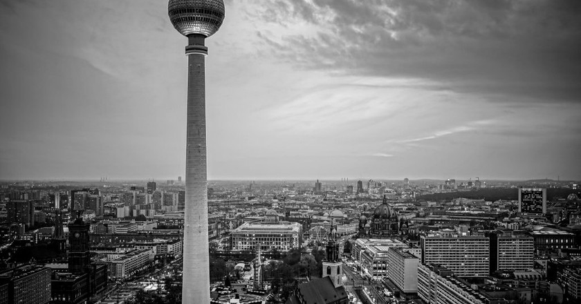 View of Berlin's famous TV Tower and skyline