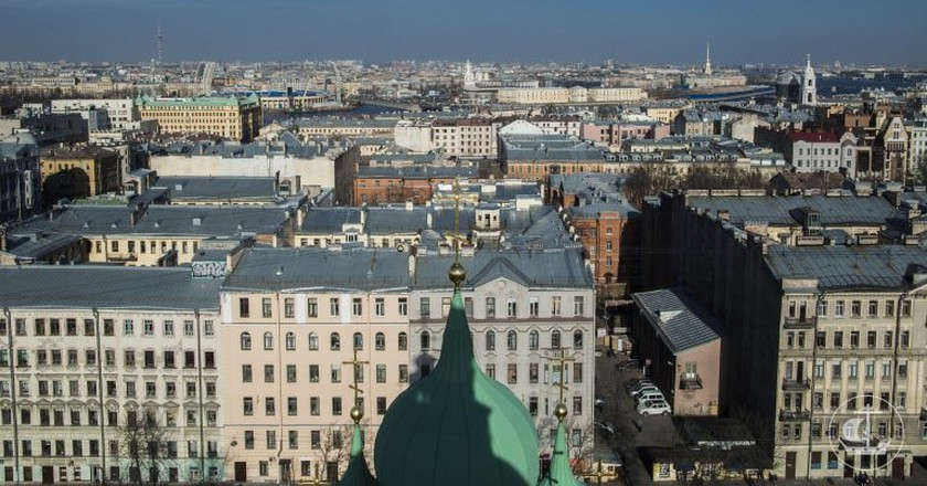 Bird's-eye view of Vasilievsky Island