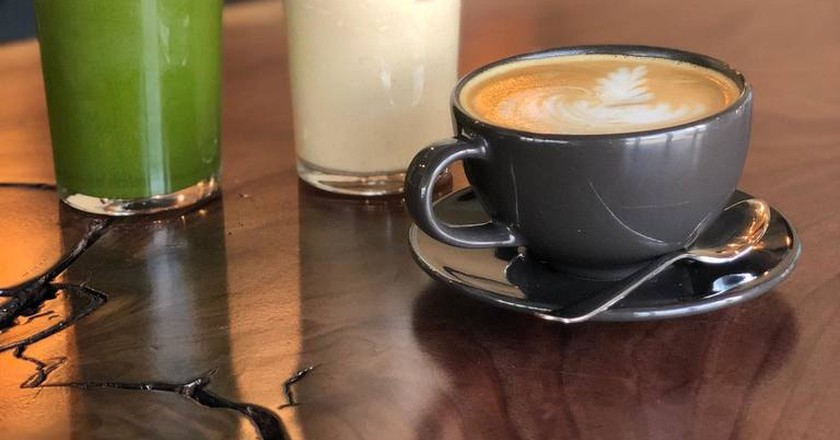 Lattes at Free Press Coffee House in Springfield, IL