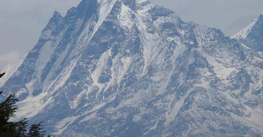 Machapuchare, in the Annapurna Himalaya of Nepal