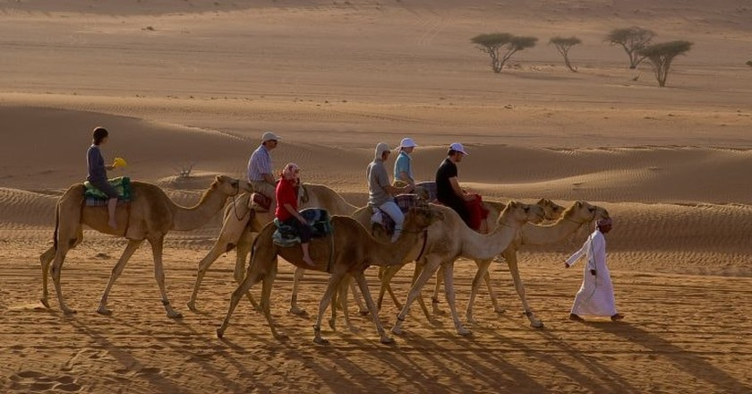 Tourists in Oman
