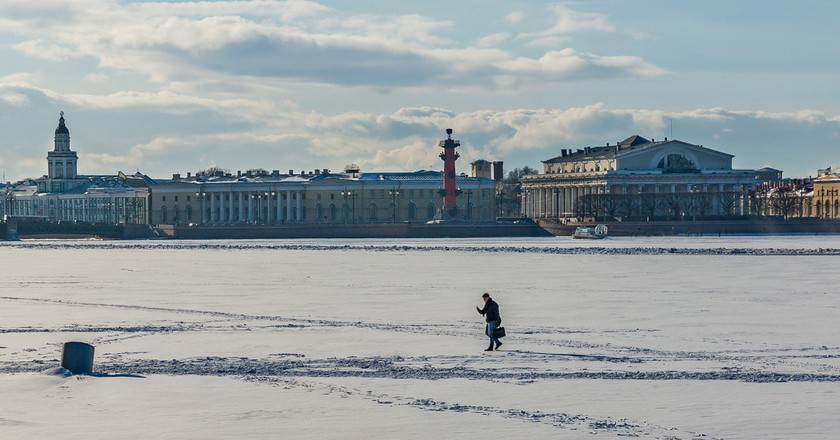 Vasilievsky Island from the Neva River