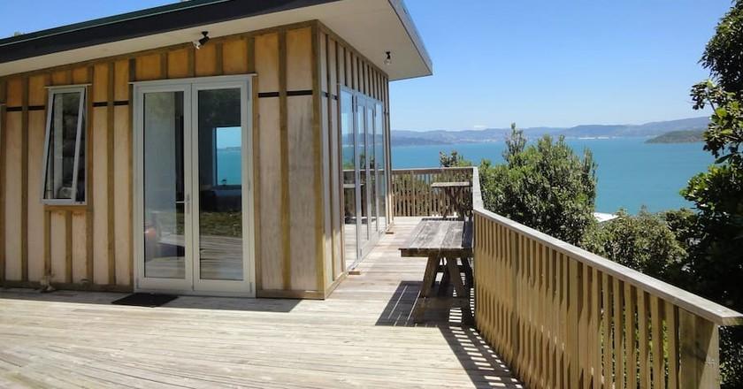 Tree House Above Wellington Harbour