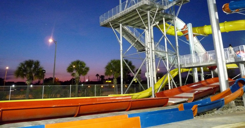 Water slide tower